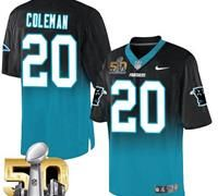 Nike Carolina Panthers #20 Kurt Coleman BlackBlue Super Bowl 50 Men's Stitched…