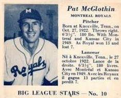 1950 Big League Stars (V362) #10 Pat McGlothin Front