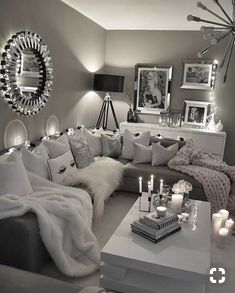 60 affordable apartment living room design ideas on a budget 52 Living Room Decor Cozy, Living Room Goals, Living Room Ideas On A Budget, Living Room Decor Silver, Corner Sofa Living Room Layout, Decorating Ideas For The Home Living Room, Beige And Grey Living Room, Glamour Living Room, Cozy Home Decorating