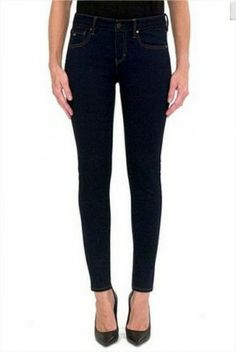 Jeans Armani Exchange Women's Power Stretch super Skinny Jean Dark Indigo 5J20POP #Armani Exchange#Jeans