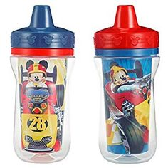 The First Years Meal Mates Insulated Hard Spout Sippy Cup - Mickey Mouse, 2 pack, Multicolor Disney Toys, Disney Mickey Mouse, Spill Proof Cup, Kitten Party, Images Disney, Cup Design, Baby Boy Nurseries, Baby Bottles, Baby Care