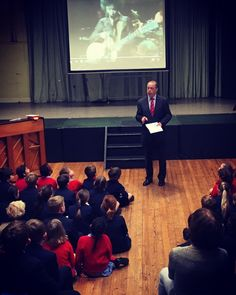 Morning assembly: Mr Fleck posed the question 'Who are You?'