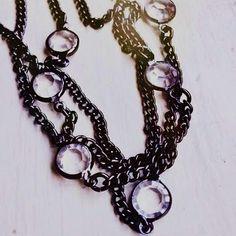 """City Lights"" 60"" Hematite Necklace - $31. You can find this at http://kayleneskwarczynski.mypremierdesigns.com"