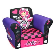 79.00 Your child will love rocking and relaxing on the fun and stylish American Greetings Strawberry Shortcake Rocks Small Standard Rocker.