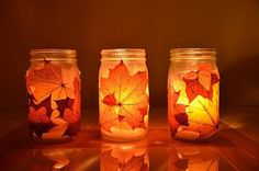 The site for making these!:  http://nowoodenspoons.blogspot.com/2011/11/autumn-lanterns-tutorial.html?m=1  So pretty and PERFECT for fall!