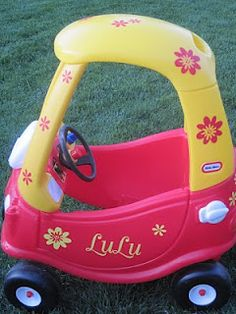 a tad past the cozy coupe....but still a cute idea....maybe for C