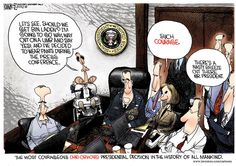 Michael Ramirez on Obama spiking the football in Afghanistan...