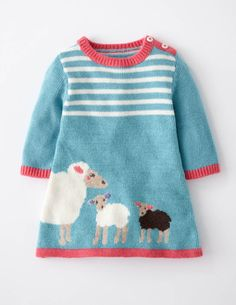 I've spotted this @BodenClothing My Baby Knitted Dress Duck Egg Sheep