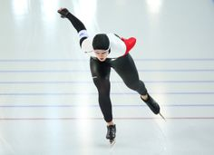 DAY 10:  Brittany Schussler of Canada competes in the Speed Skating Women's 1500m