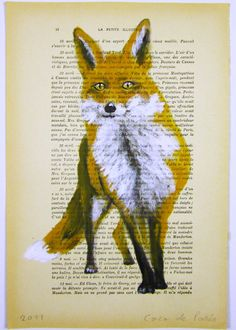 mixed media // fox