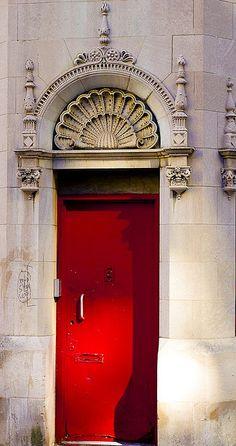 Mysterious Red Door - NYC