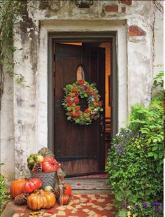 Fall wreath from Autumn Cottage magazine, Fall 2013