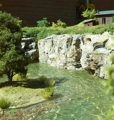Terrific water effect with natural looking rock face.