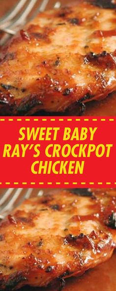 Sweet Baby Ray's Crockpot Chicken Crockpot Dishes, Crock Pot Slow Cooker, Crock Pot Cooking, Slow Cooker Recipes, Crockpot Recipes, Chicken Recipes, Cooking Recipes, Chicken Meals, Meatball Recipes