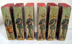 Image result for wood block toy soldier antique