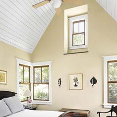 LOVE the vaulted ceiling.