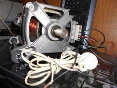 Как подключить двигатель от стиральной машины к 220 - YouTube