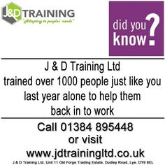 Did you know we helped over 1000 people back into work last year? http://ift.tt/1HvuLik #forklift #training #safety