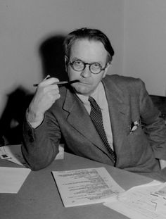 Mystery novelist and screenwriter Raymond Chandler, shown in a 1946 portrait, created private eye Philip Marlowe in the novels