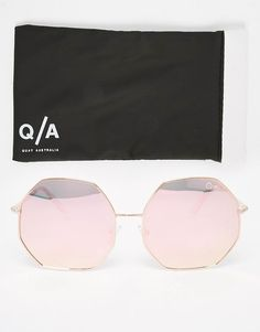 Quay Australia | Quay Kiss and Tell Octagon Mirror Sunglasses at ASOS