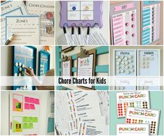 Chore Charts for Kids  Lots of great ideas!