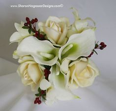 9126-White-Off-White-Ivory-Burgundy-Roses-CallaLi-MOHBouquet-TOP-c.jpg 576×554 pixels