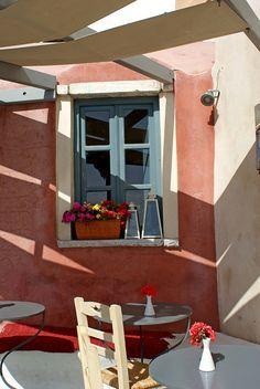 Cafe, Oia, Santorini, Greece