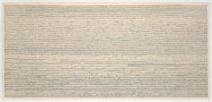 Joel Shapiro. Fingerprint Drawing. (1969)