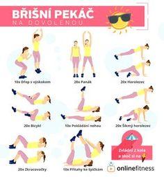 Jedeš na dovolenou? Vyzkoušej naše tréninkové karty, které tě udrží ve formě! | Blog | Online Fitness Yoga Fitness, Fitness Tips, Fitness Motivation, Health Fitness, Gym Workouts, At Home Workouts, Thigh Exercises, Belly Fat Workout, Yoga Tips