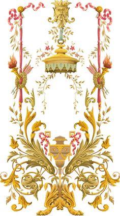 Baroque Design, Baroque Pattern, Retro Pattern, Pattern Art, Church Flower Arrangements, Flora Flowers, Vintage Borders, Textile Prints, Textiles