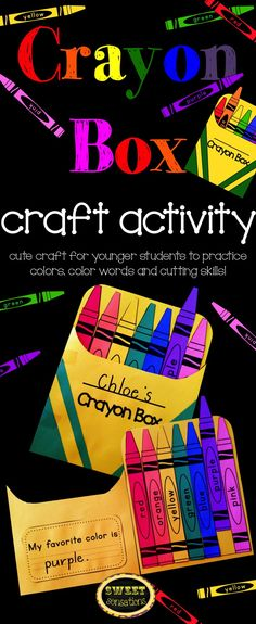 Fun way to learn color words, reinforce knowledge of color words or to introduce colors to young students in addition to practicing those fine motor cutting skills!