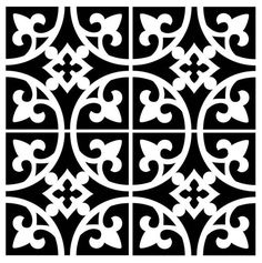 Reusable Laser-Cut Floor or Wall Tile Stencil – R. Reusable Laser-Cut Floor or Wall Tile Stencil Reusable Laser-Cut Small to Medium Floor or Wall Tile Stencil Stencils, Stencil Art, Stencil Printing, Hand Painted Wallpaper, Painting Wallpaper, Stencil Patterns, Stencil Designs, Wedding Coasters, Stenciled Floor