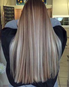 Balayage Hair, Ombre Hair, Blonde Hair, Bayalage, Diy Hairstyles, Straight Hairstyles, Celebrity Long Hair, Hair Junkie, Synthetic Hair