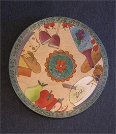 "Sticks 20"" Wine and Cheese Theme Lazy Susan"