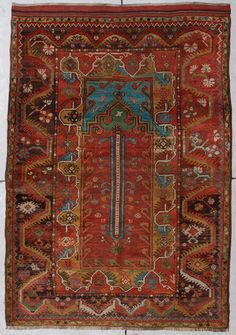 Turkish Melez Melas Milas antique oriental rug
