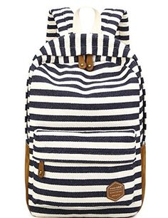 Leaper College School Laptop Backpack/ Classic Stripe Canvas Backpack for Laptops Up To 14-Inch Dark Blue, http://www.amazon.ca/dp/B01CZCNTGM/ref=cm_sw_r_pi_awdl_UjsgxbAJCG886