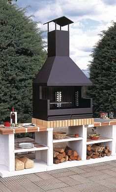"""Visit our site for additional relevant information on """"outdoor kitchen designs layout patio"""". It is a superb place to find out more. Kitchen Patio Doors, Outdoor Kitchen Design, Outdoor Kitchens, Layout Design, Küchen Design, Design Ideas, Parrilla Exterior, Barbecue Design, Budget Patio"""
