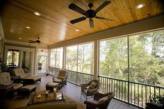 """A 30'6"""" by 13' screened porch on plan 60028RC offers lots of entertaining possibilities..."""