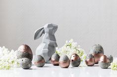 Des œufs en béton créatif, pour décorer la table de Pâques !