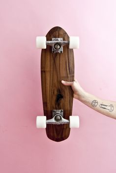 Skateboards & Longboards - skateboard mini cruiser 70s retro style rollholz - ein Designerstück von tomwilhelm bei DaWanda