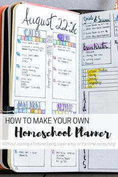 DIY Homeschool Planner for the Artistically Challenged