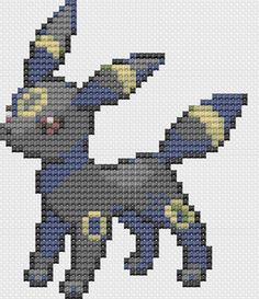 Claudia martin xeque claudettt88 on pinterest for Umbreon pixel art template