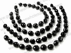 Black Spinel Faceted Onion (Quality A+) (Pack of 2 Strands) / 8.5 to 9.5 mm / 19 to 21 Grms / 18 cm / BL-121 by GemstoneWholesaler on Etsy