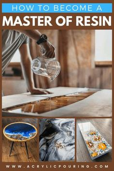 Check out how can acrylic pouring artists become a master of resin. Epoxy Resin Table, Epoxy Resin Art, Diy Resin Art, Diy Resin Crafts, Wood Resin, Acrylic Resin, Diy Resin Ornaments, Resin And Wood Diy, Diy Epoxy