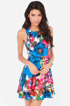 Once and Fleur All Floral Print Dress $57.00