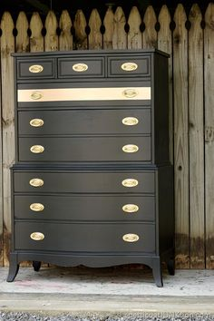 Metallic Gold Stripe Adds Drama To Bedroom Furniture