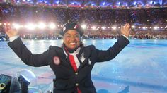Anjali Forber-Pratt ( Phd '12 Ed; MS '07 AHS, BS '06 AHS) at the London 2012 Paralympic Opening Ceremonies
