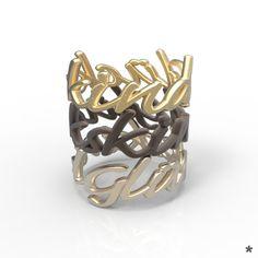 Ringe aus Edelstahl oder 925 Sterling Silber von uns mit Liebe modelliert und mittels 3D Druck für dich produziert :) Bracelets, Gold, Jewelry, Stainless Steel, Printing, Silver, Rings, Bangles, Jewellery Making