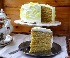 Triple layer lemon swirl and poppyseed Mothers Day cake from  Belleau Kitchen