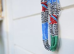 African Jewelry  Maasai beaded Necklaces  by afroplatterhub